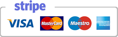 Credit and debit card payments powered by Stripe.