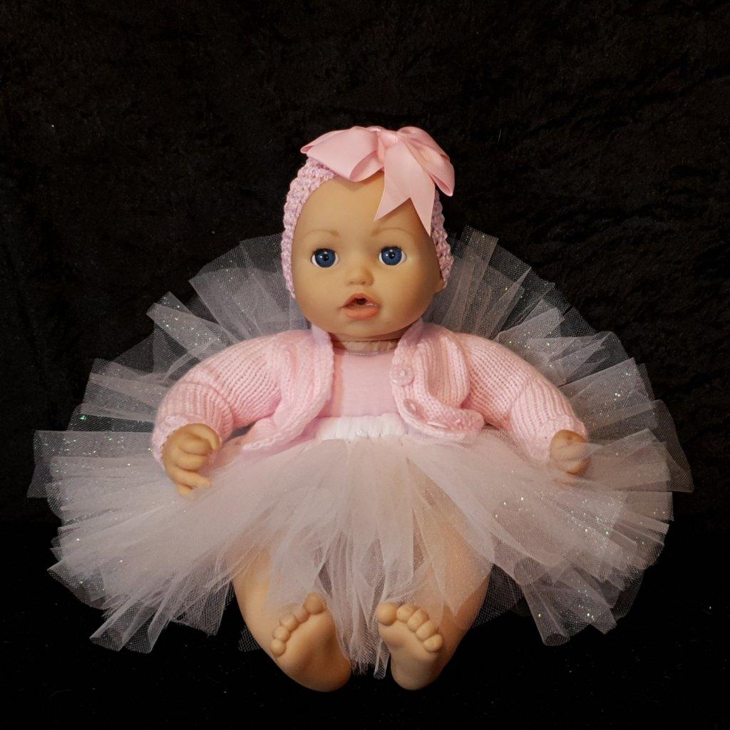Ballerina tutu on Baby Annabell
